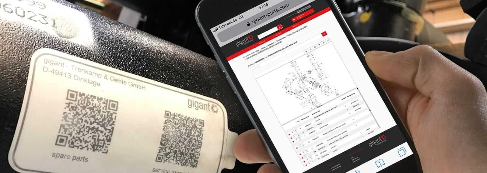 QR-Code scannen und direkt Details zur Achse erhalten