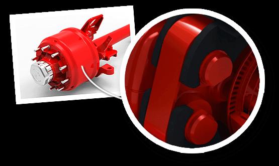 gigant präsentiert die PROTEC-Bremse – Trommel vor der Nabe.